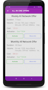 screenshot of Mobile Packages: 3G,SMS & Call version 3.0.6