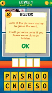 screenshot of 4 Pics 1 Word Puzzle Plus version 1.0.10