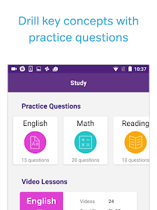screenshot of ACT Test Prep, Practice, and Flashcards version 3.1.0