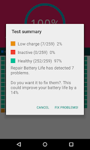screenshot of Advanced Repair Battery Life version 1.62
