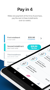 screenshot of Afterpay - Shop Now, Pay Later version 1.12.0