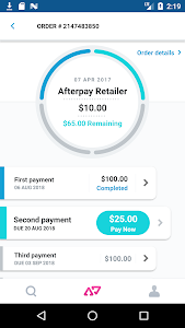 screenshot of Afterpay - Shop Now, Pay Later version 1.11.3