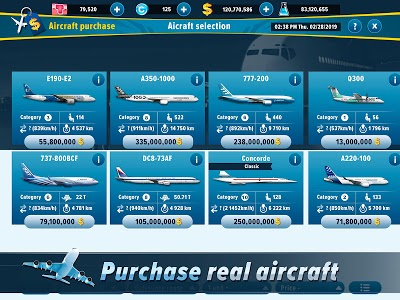screenshot of Airlines Manager - Tycoon 2019 version 3.01.1004