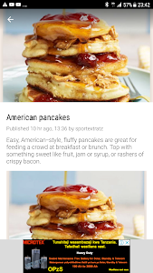 screenshot of American Recipes version 1.0