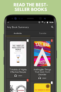 screenshot of Any Book Summary: Fiction & Non-fiction version 1.26