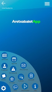 screenshot of AretxabaletApp version 1