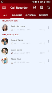 screenshot of Call recorder automatic HD version 2.8.12