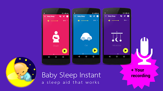 screenshot of Baby Sleep: White noise lullabies for newborns version 3.1