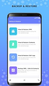 screenshot of Backup and Restore - SMS, Contacts & Call Log version 1.10