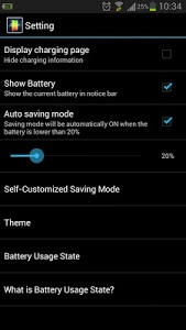 screenshot of Battery Master-Save power! version 3.1