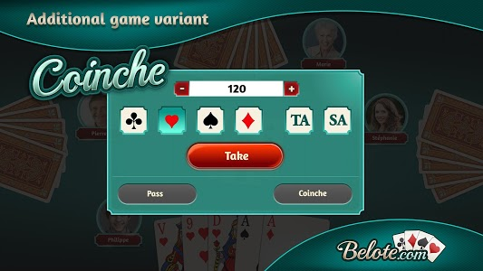 screenshot of Belote.com - Free Belote Game version Varies with device