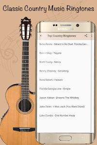 screenshot of Best Country Ringtones - Top Country Songs version 6.8