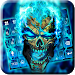Blue Flame Skull Keyboard Theme
