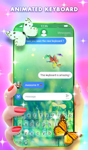 screenshot of Butterfly Animated Keyboard & Live Wallpaper version 2.50