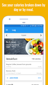 screenshot of Calorie Counter & Diet Tracker version Varies with device