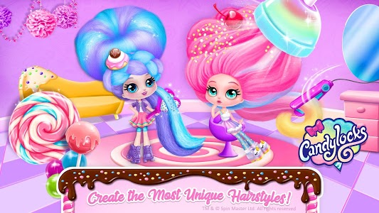 screenshot of Candylocks Hair Salon - Style Cotton Candy Hair version 1.2.1
