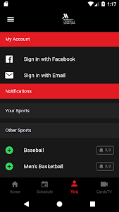 screenshot of CardsMobile version Varies with device