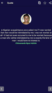 screenshot of Chimamanda Ngozi Adichie Quotes version 1.8