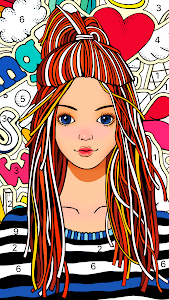 screenshot of Color Fun - Color by Number & Coloring Books version 1.1.0