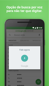 screenshot of Conjugação de Verbos Offline version 1.4.1