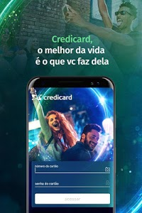 screenshot of Credicard - app do seu cartão de crédito version Varies with device