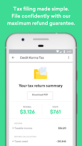 screenshot of Credit Karma version Varies with device