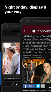 screenshot of Daily Mail Online version Varies with device
