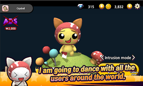 screenshot of Dance Dance.io version 1.0.3