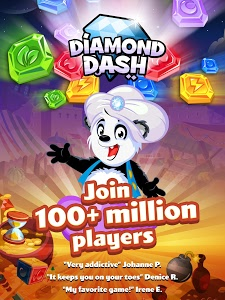 screenshot of Diamond Dash Match 3: Award-Winning Matching Game version 7.1.32