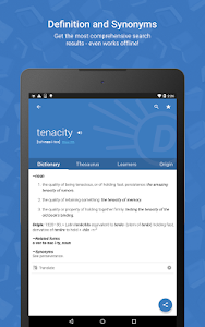 screenshot of Dictionary.com version Varies with device