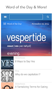 screenshot of Dictionary.com version 5.1.1