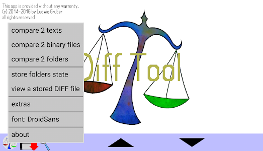 screenshot of DiffTool the File Compare Tool version 2.07