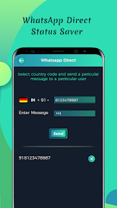 screenshot of Direct Open for WA Chat version 1.0