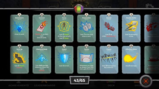 screenshot of Dungeon Tales : An RPG Deck Building Card Game version 1.79