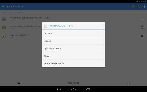 screenshot of Easy Uninstaller App Uninstall version 3.3.4