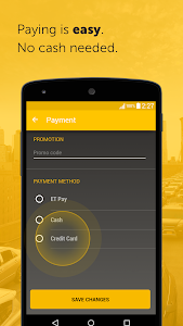 screenshot of Easy, a Cabify app version Varies with device