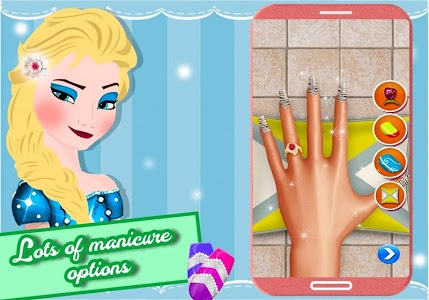 screenshot of Elsa Nail Salon - Ice Queen Game version 1.0