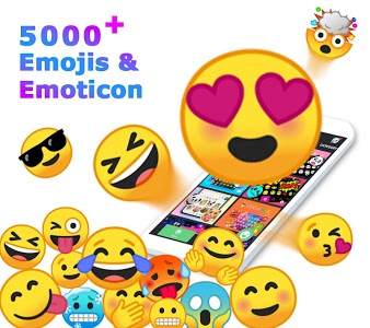 screenshot of ❤️Emoji keyboard - Cute Emoticons, GIF, Stickers version 3.4.1070