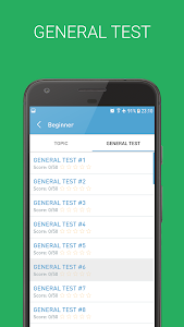 screenshot of English Grammar Test version 2.2.2