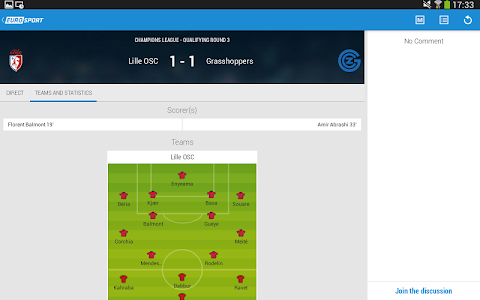 screenshot of Eurosport.com version 4.3