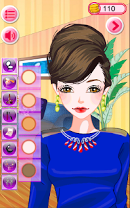 screenshot of Fashion Lady Dress Up and Makeover Game version 2.1