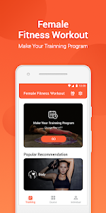 screenshot of Female Fitness Workout version 4.6.0