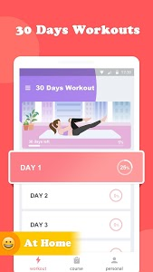 screenshot of Female Workout - Lose Weight In 30 Days version 1.5.7