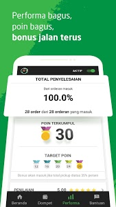 screenshot of GO-JEK Driver version 3.8.0