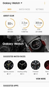 screenshot of Galaxy Watch Plugin version 2.2.05.19050841N