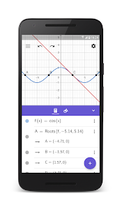 screenshot of GeoGebra Graphing Calculator version 5.0.545.0