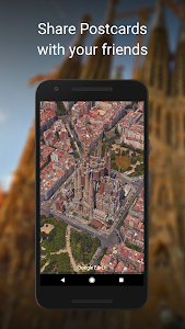 screenshot of Google Earth version Varies with device