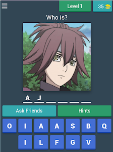 screenshot of Guess The Character version 3.1.9z