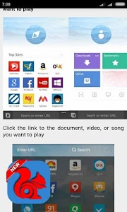 screenshot of Guide UC Browser Fast version 1.1