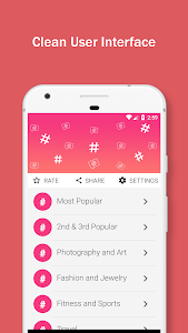 screenshot of Hashtags for Likes & Followers version 1.6